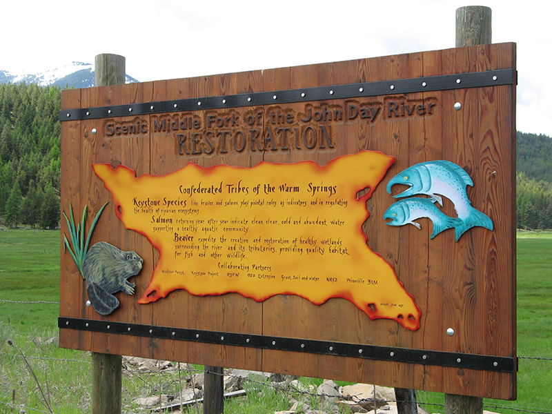 Oxbow Project Sign