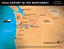 Coal export map