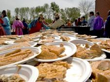 Salmon feast on the Umatilla Reservation