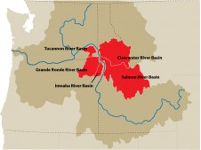 Snake river basin map