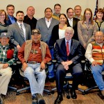 Tribal and federal leaders, staff, and presenters from the water quality meeting.