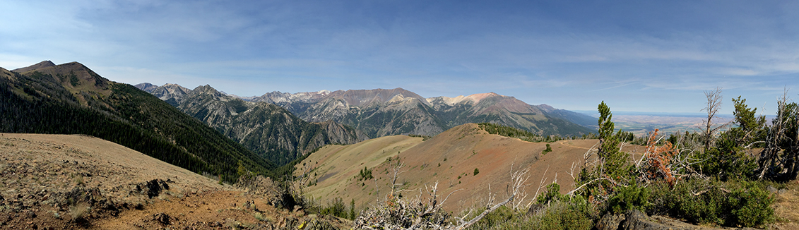 Snow-free Wallowa Mountains, July 2015.