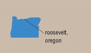 Roosevelt, Oregon Map