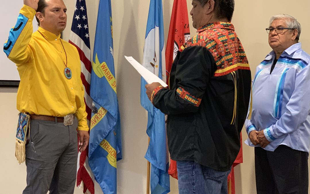 Umatilla Leader Jeremy Red Star Wolf Sworn in as New CRITFC Chair
